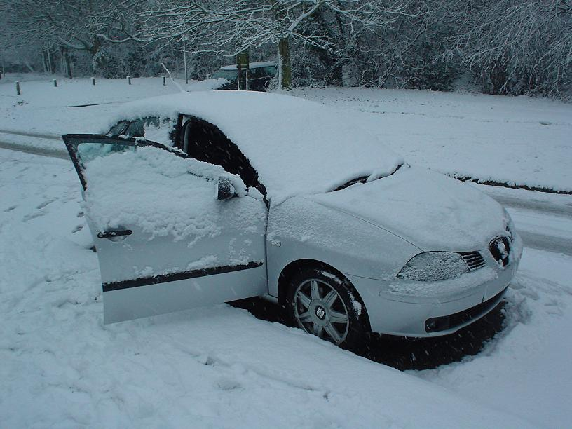 Our car in the snow